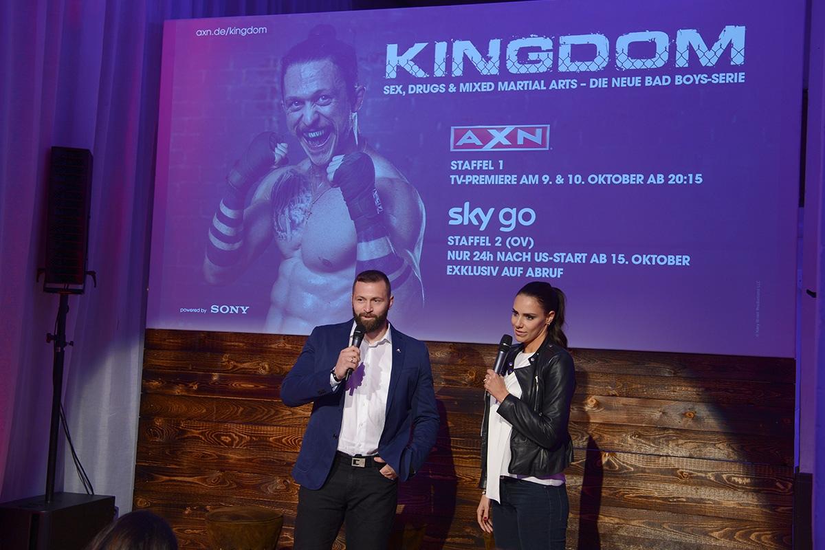Moderator Premierefeier Mma Serie Kingdom